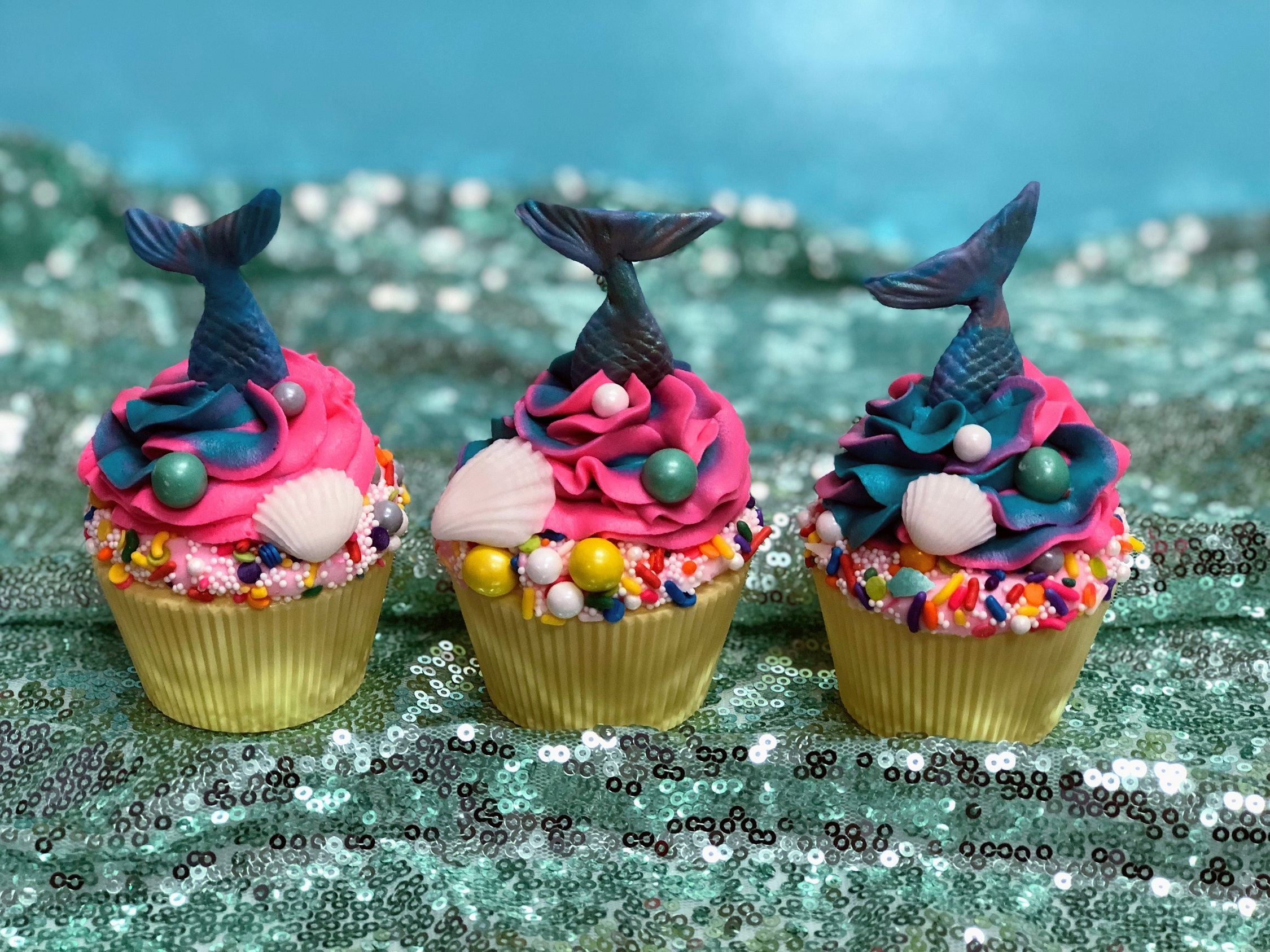 Corks & Confections: Mermaid Cupcakes