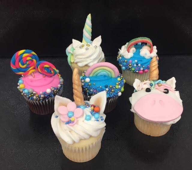 Homeschool Unicorn and Rainbow Cupcakes (ages 8 and up)
