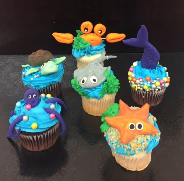 Under The Sea Week Day 1 Cupcakes
