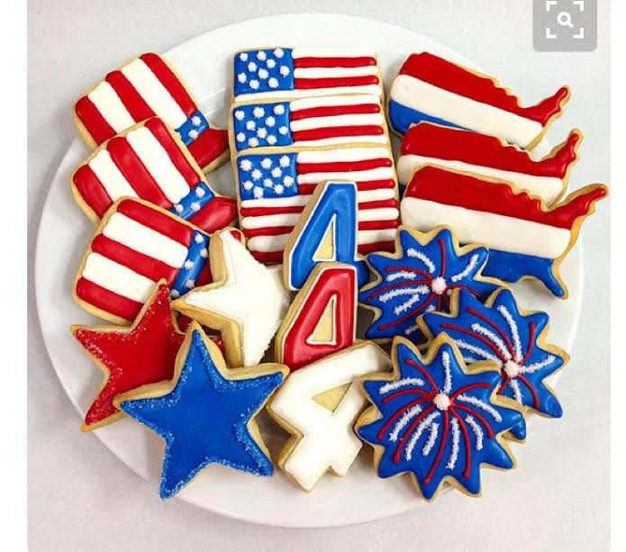 Corks N Confections Stars and Stripe Cookie Class