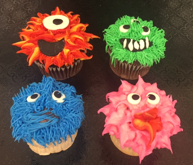 Mommy and Me Monster Cupcakes