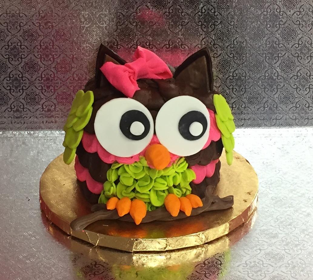 Family Fun Owl Cake