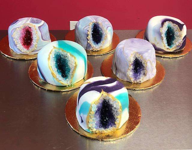 Valentine Geode Cake