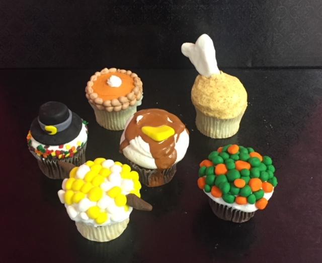 Kids Fun Thanksgiving Cupcakes