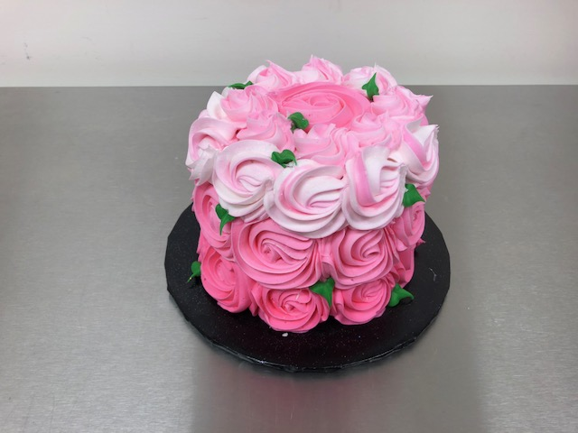 Wine Down Wednesday Rosette Cake (21 and up)