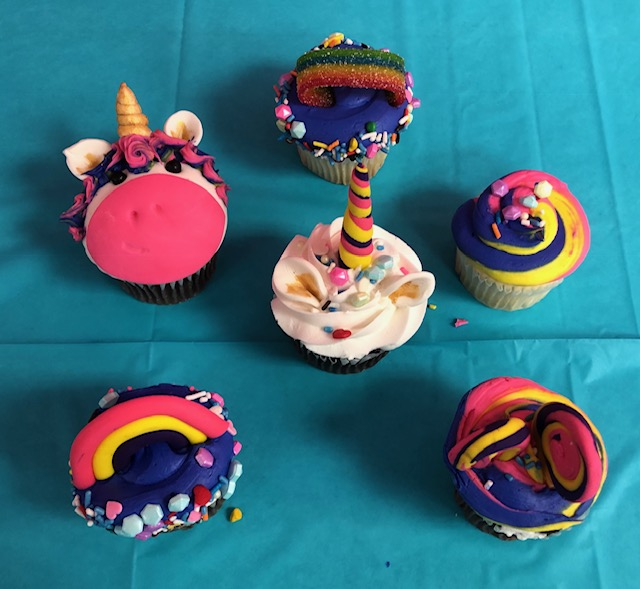 Spring Break Unicorn and Rainbow Cupcakes (8 and up)