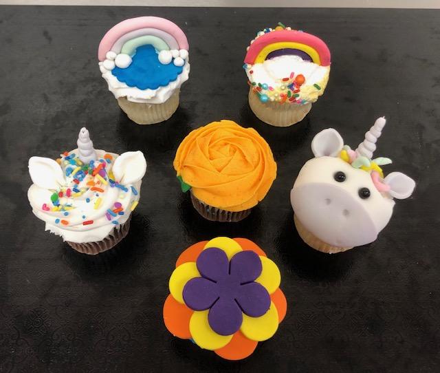 Unicorn, Flowers and Rainbows Week Day 1 Cupcakes