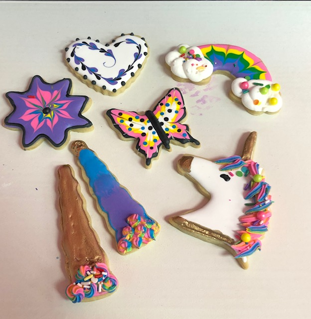 Unicorns, Flowers and Rainbow Day 3 Cookies