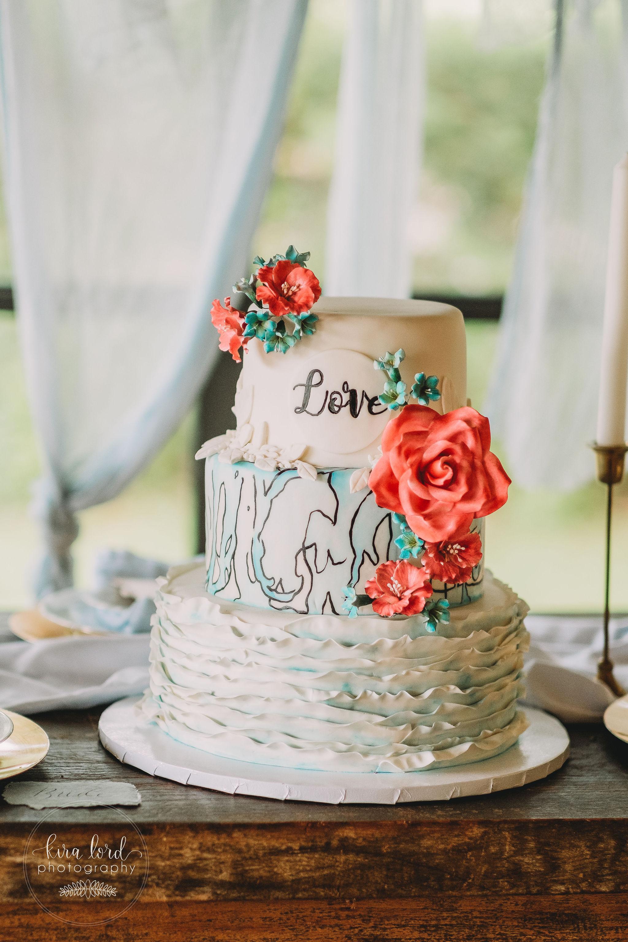 Watercolor- Ruffle Cake With Liz