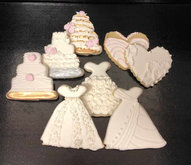 Corks N Confections Bridal Shower Cookies