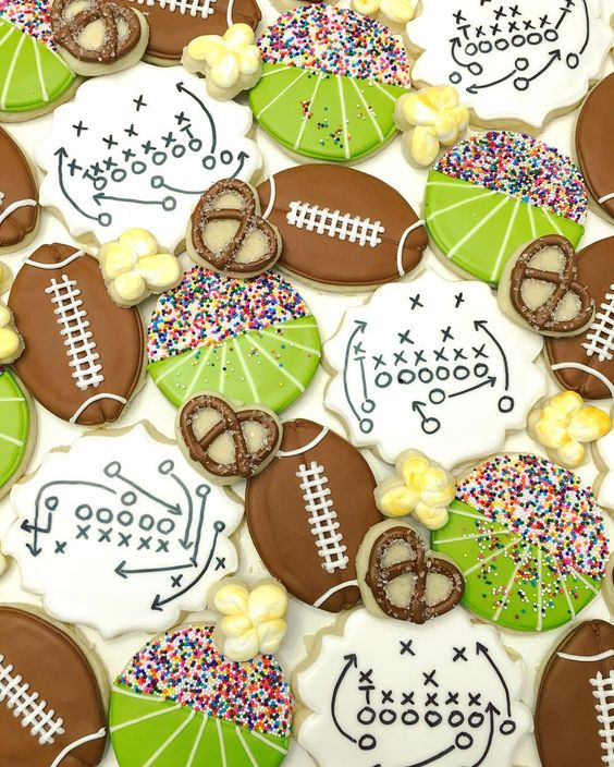 Winedown Wednesday Football Cookies