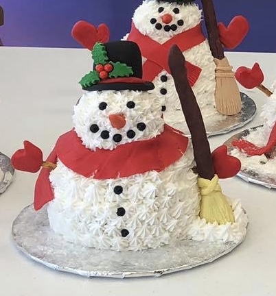 Family Fun Snowman Cake ( ages 8 and up)