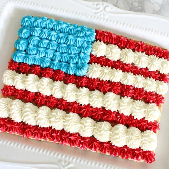 Buttercream Flag Sheet Cake