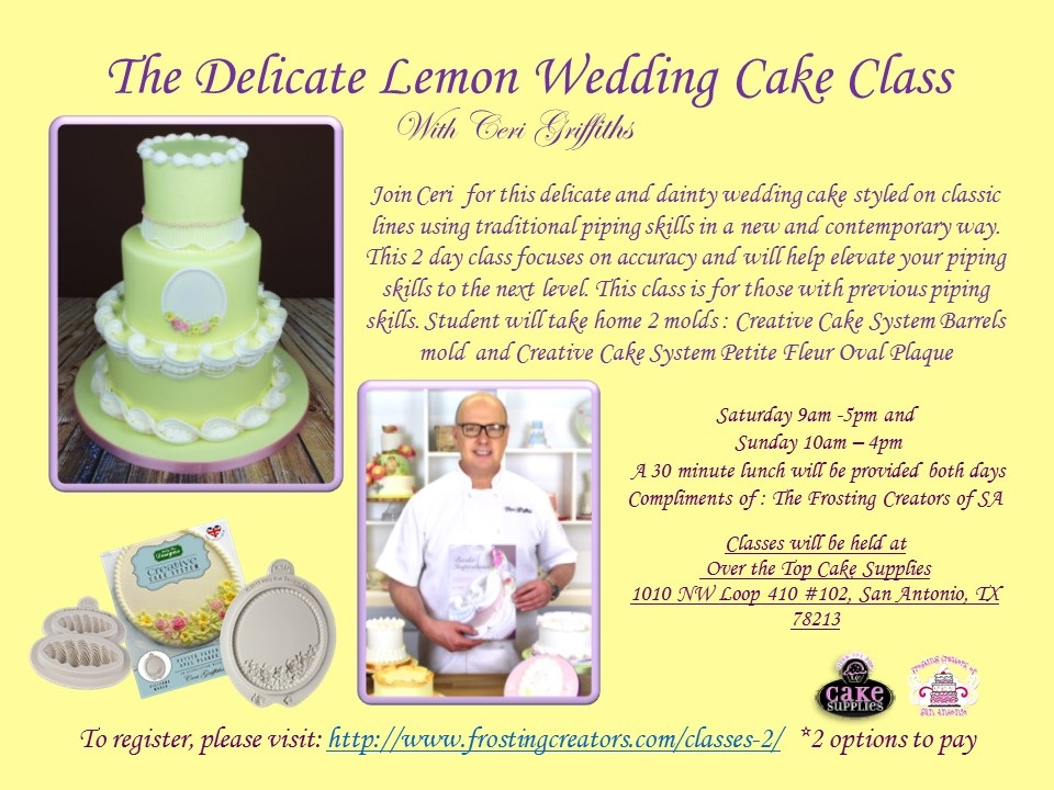 Frosting Creators Presents: The Delicate Lemon Wedding Cake with ...