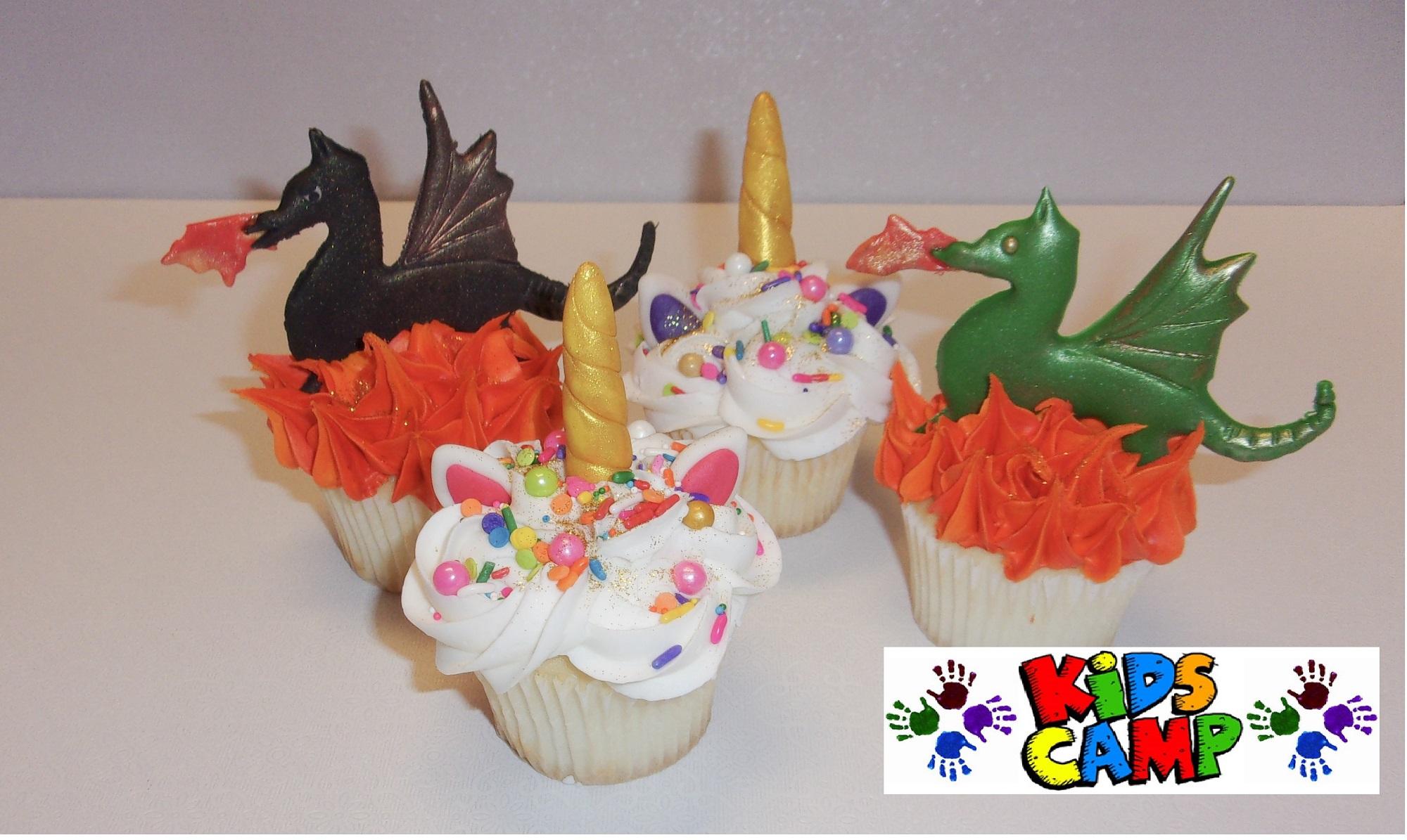 Kid S Camp Dragons Amp Unicorns Cupcakes