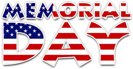 Memorial Day Special Holiday Hours