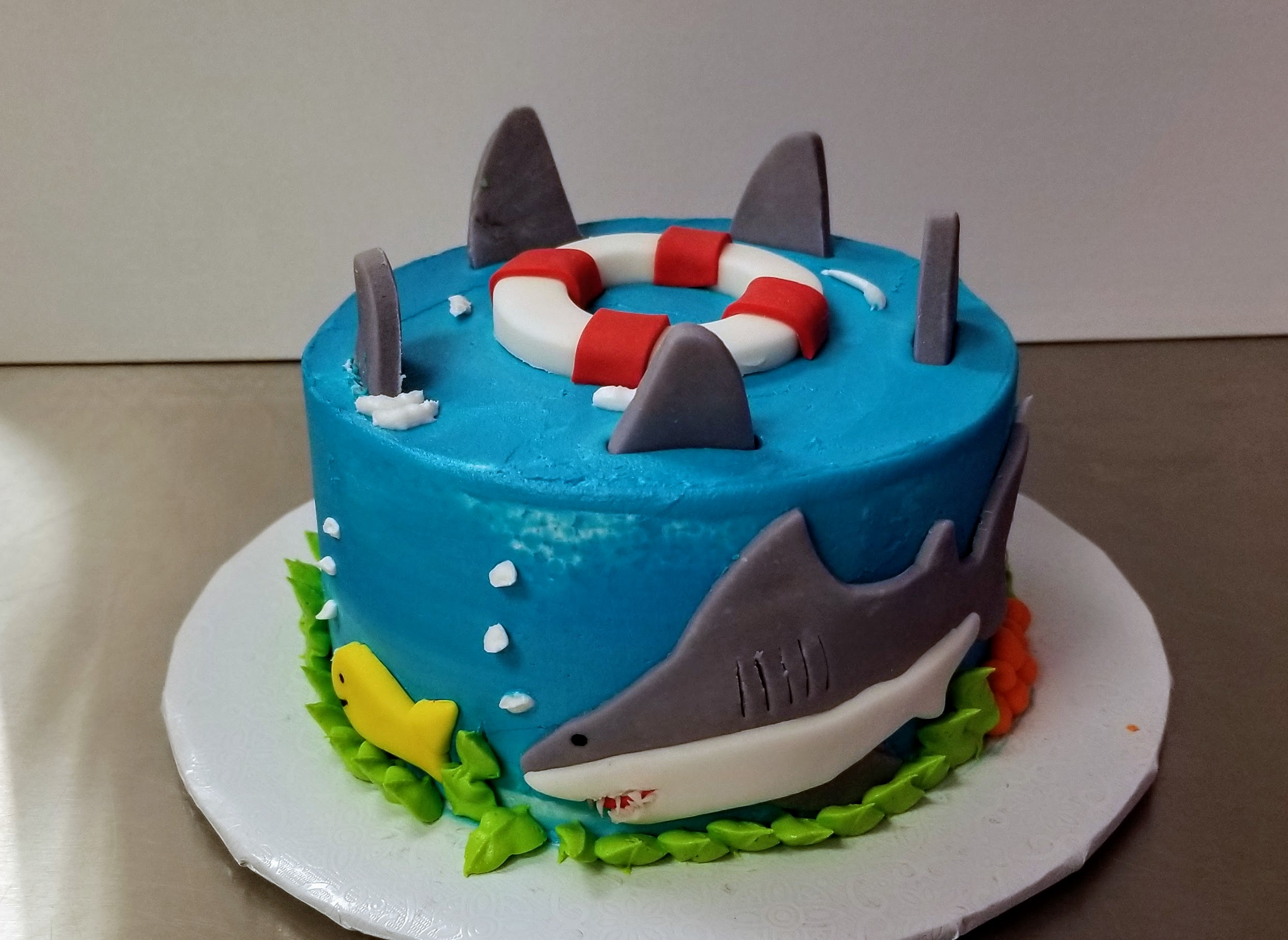 Kid's Camp: Shark Week Cake