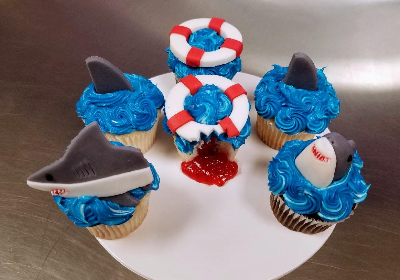 Kid's Camp: Shark Week Cupcakes