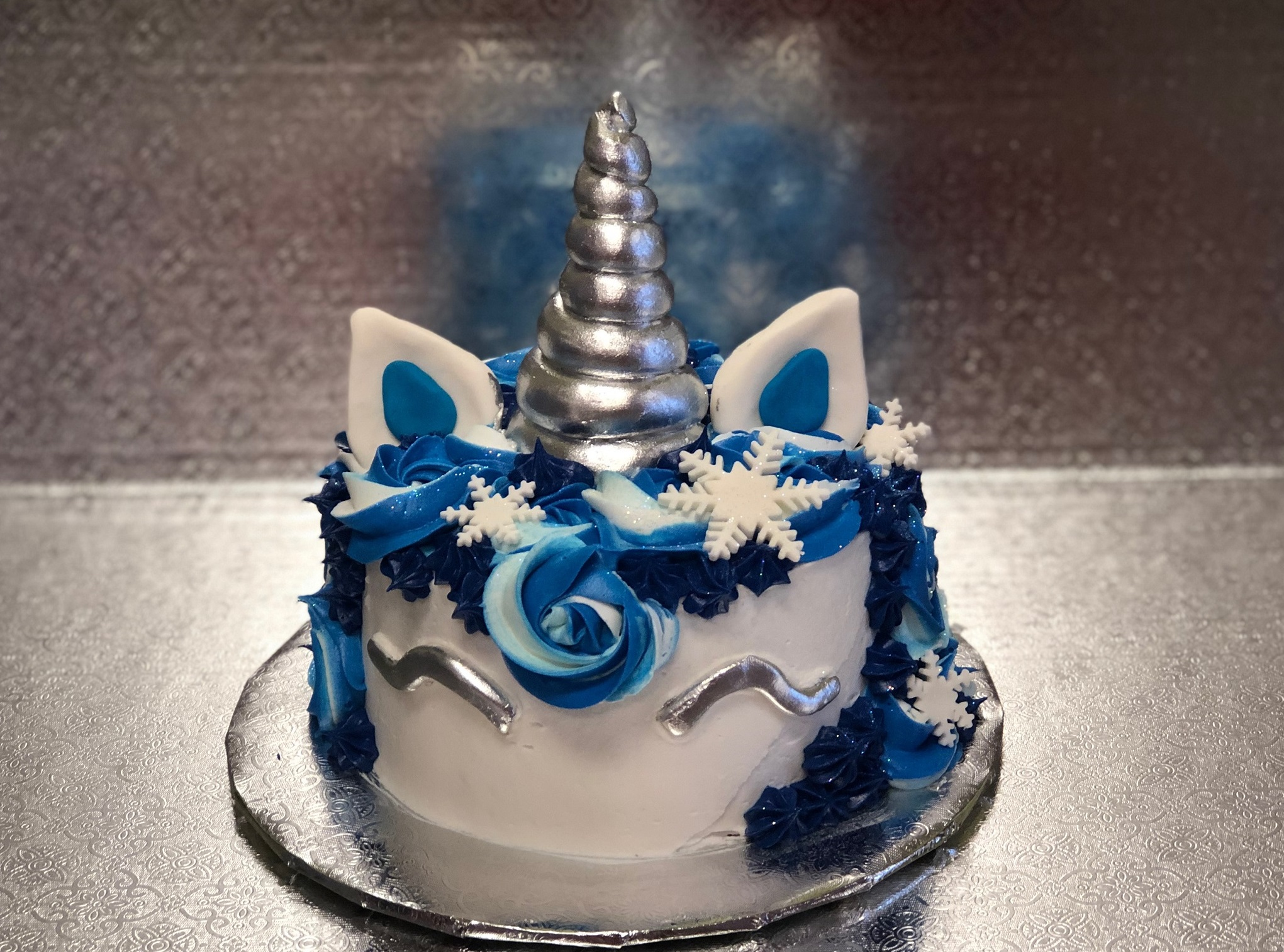 Family Day Winter Unicorn Cake Over The Top Cake
