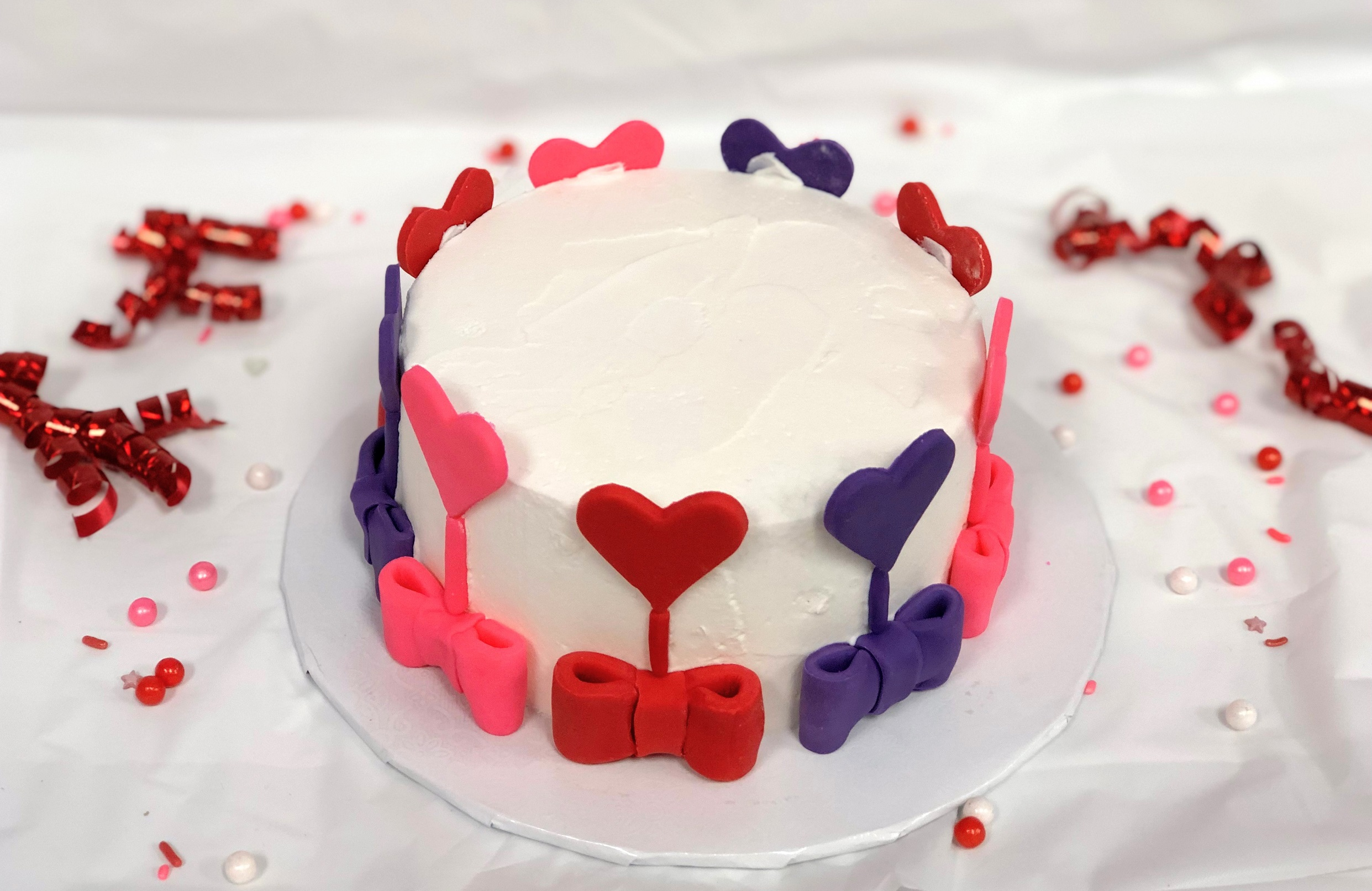 Kid's Camp: Colorful Hearts Cake