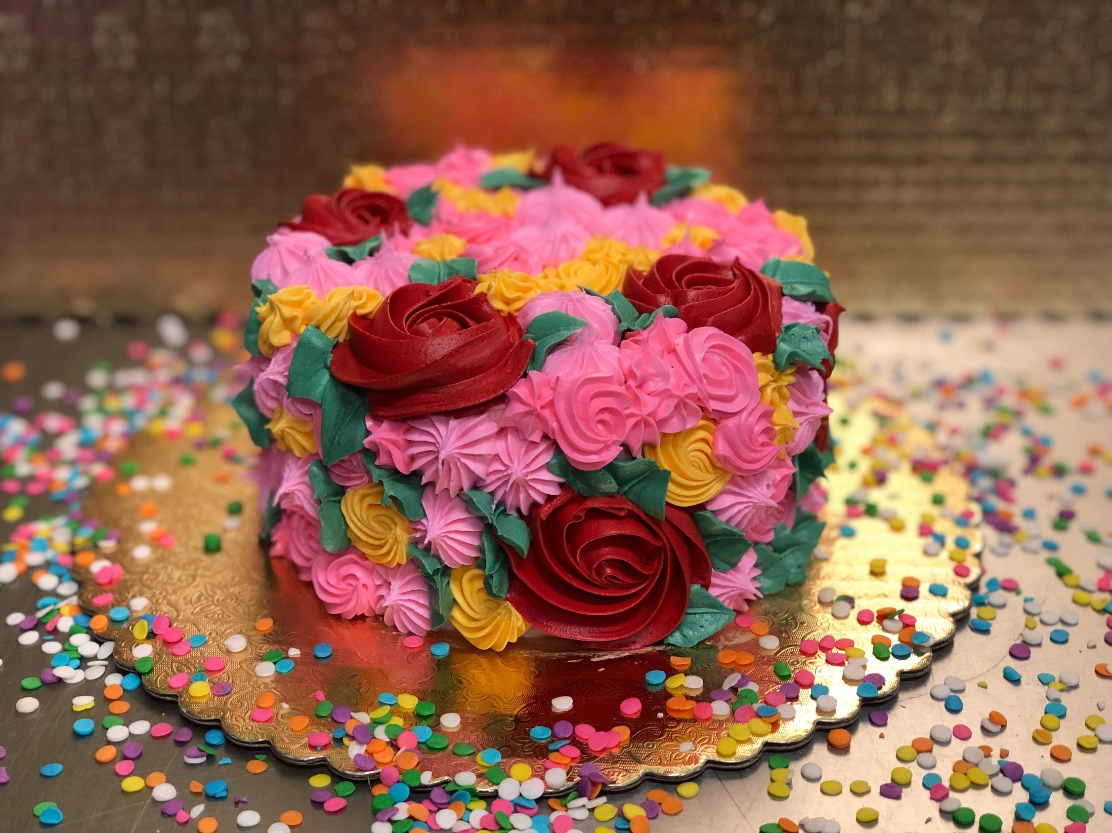 Wine Down Wednesday: Flower Cake