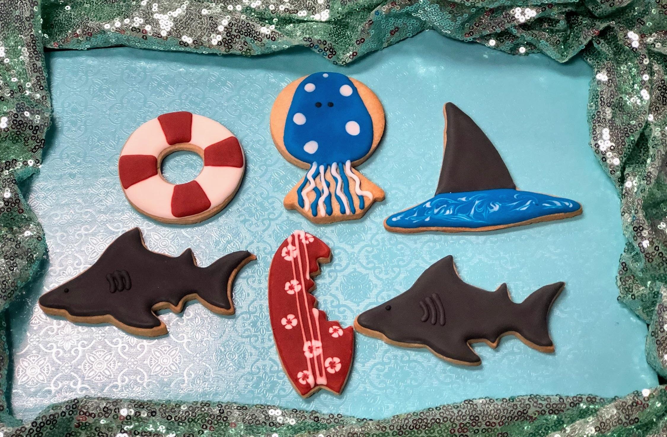 Kid's Camp: Shark Week Cookies