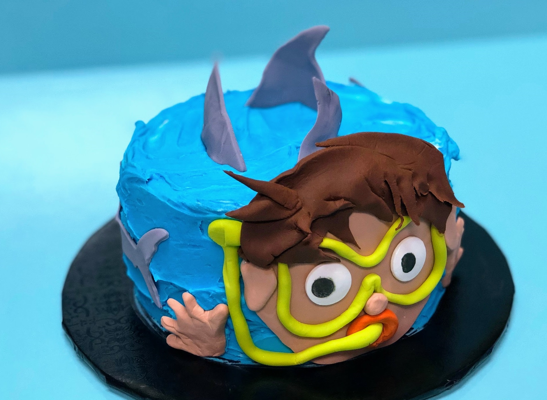 Kid's Camp: Shark Week Cake