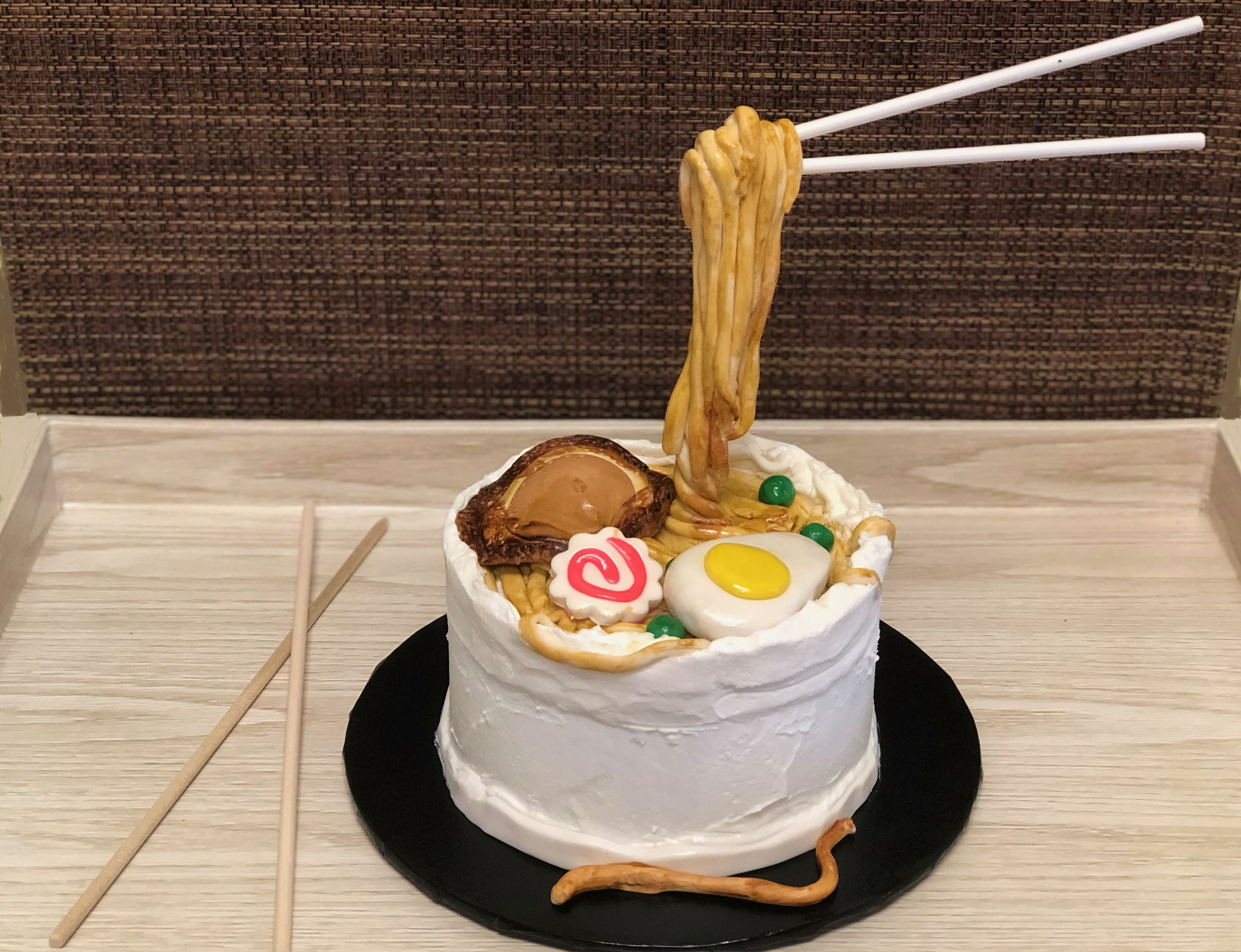 Anti Gravity Noodle Bowl Cake