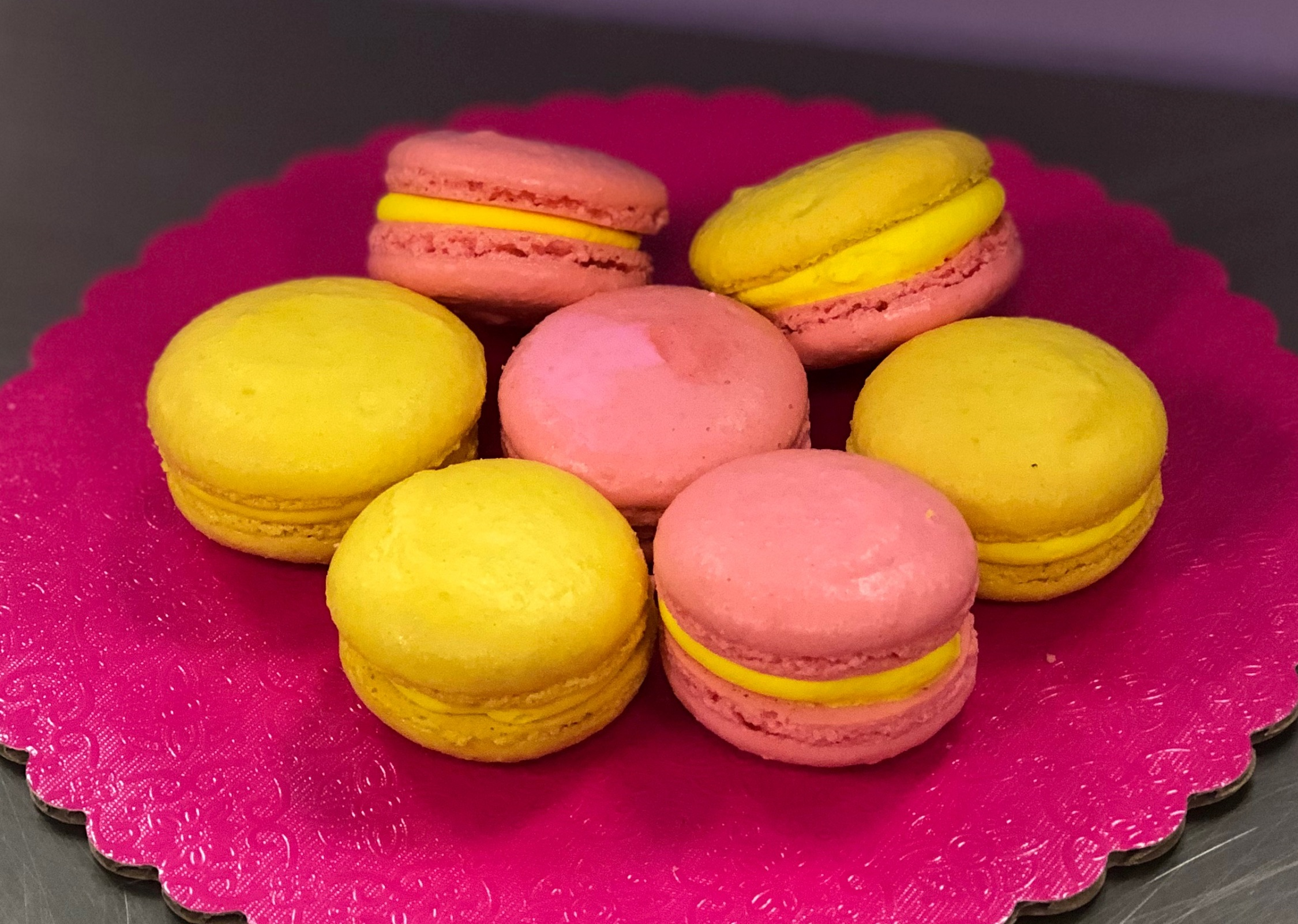 Lemon & Passion Fruit Macarons