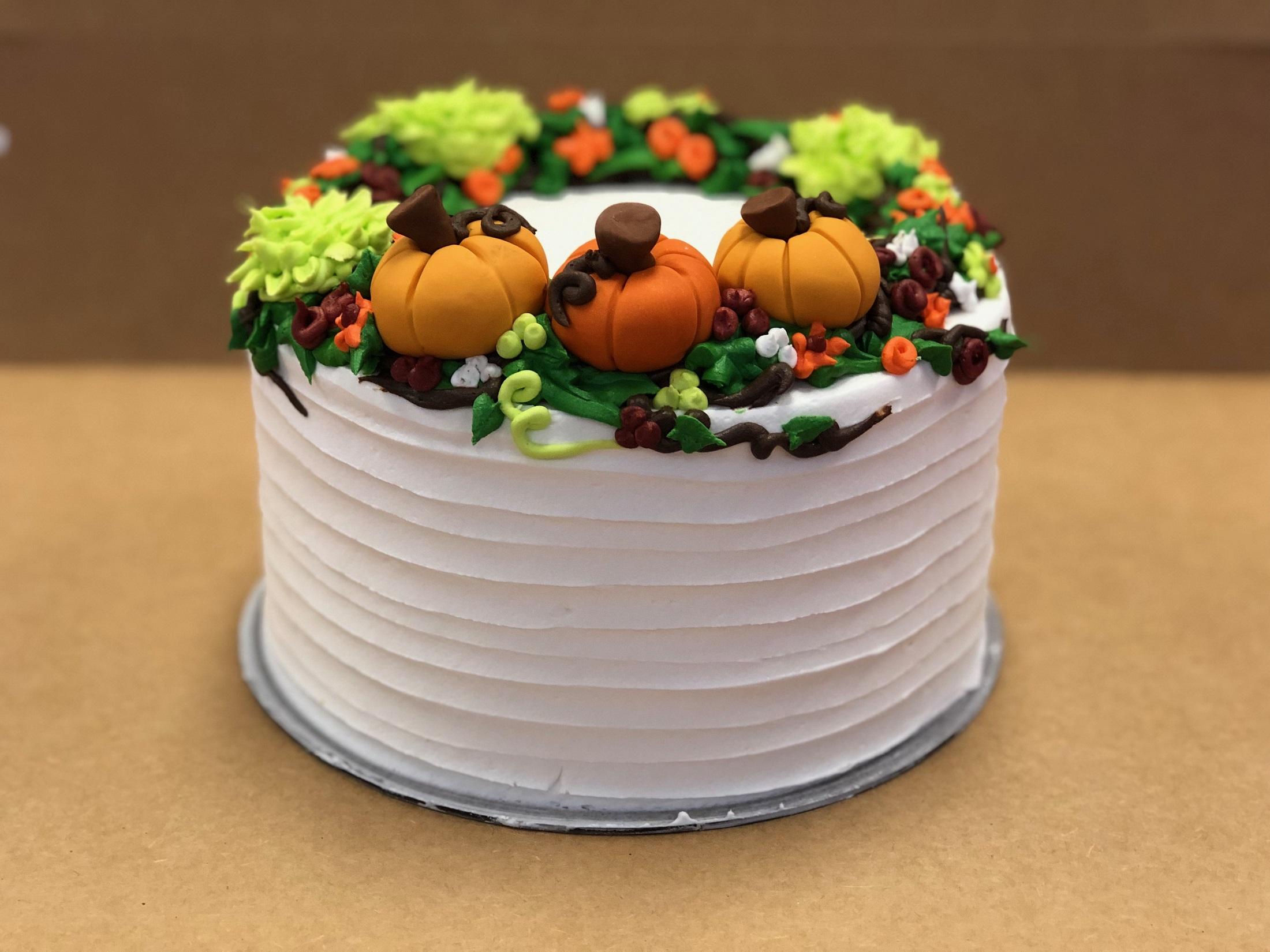 Fall Wreath Cake