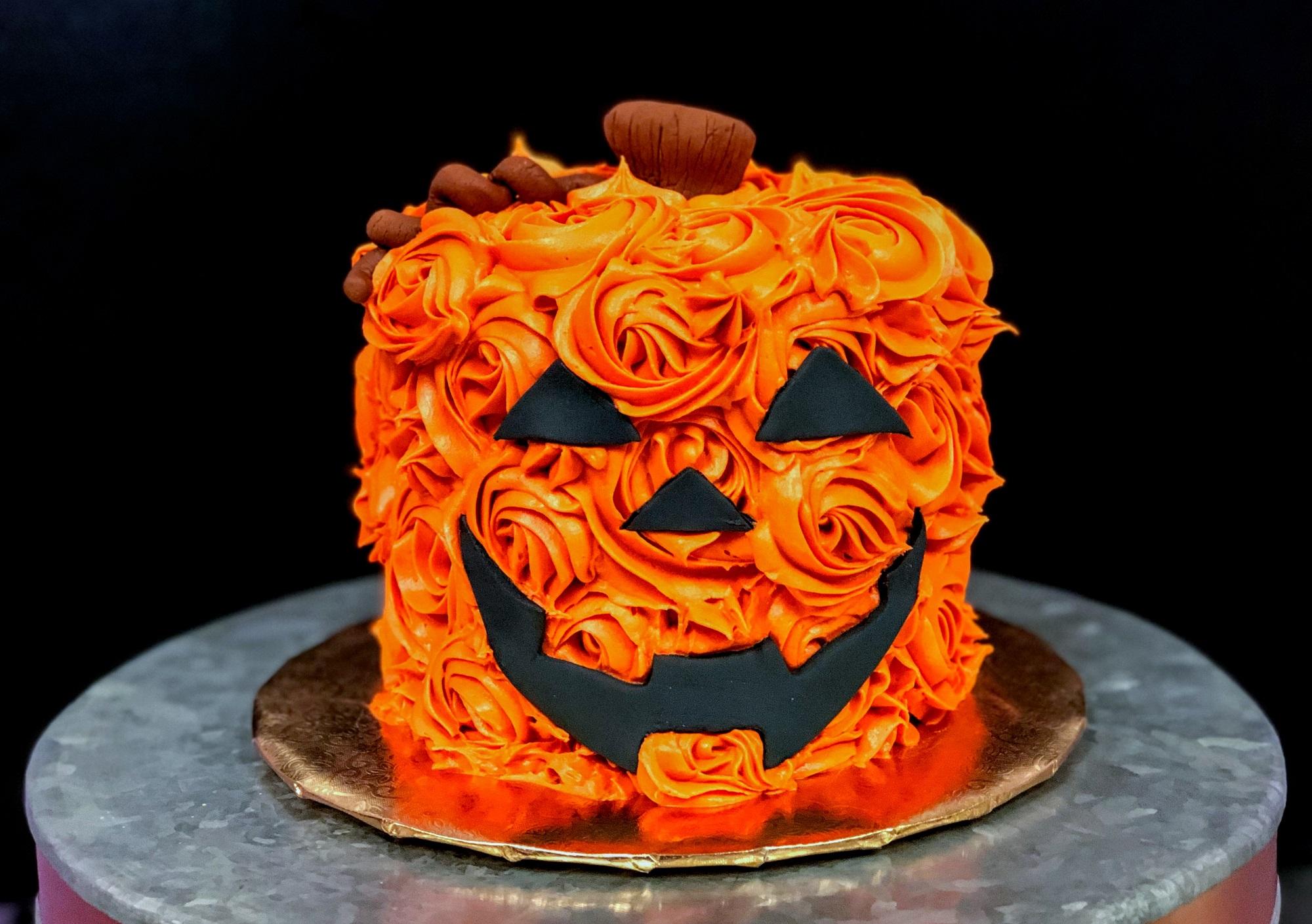Family Day: Jack O Lantern Cake