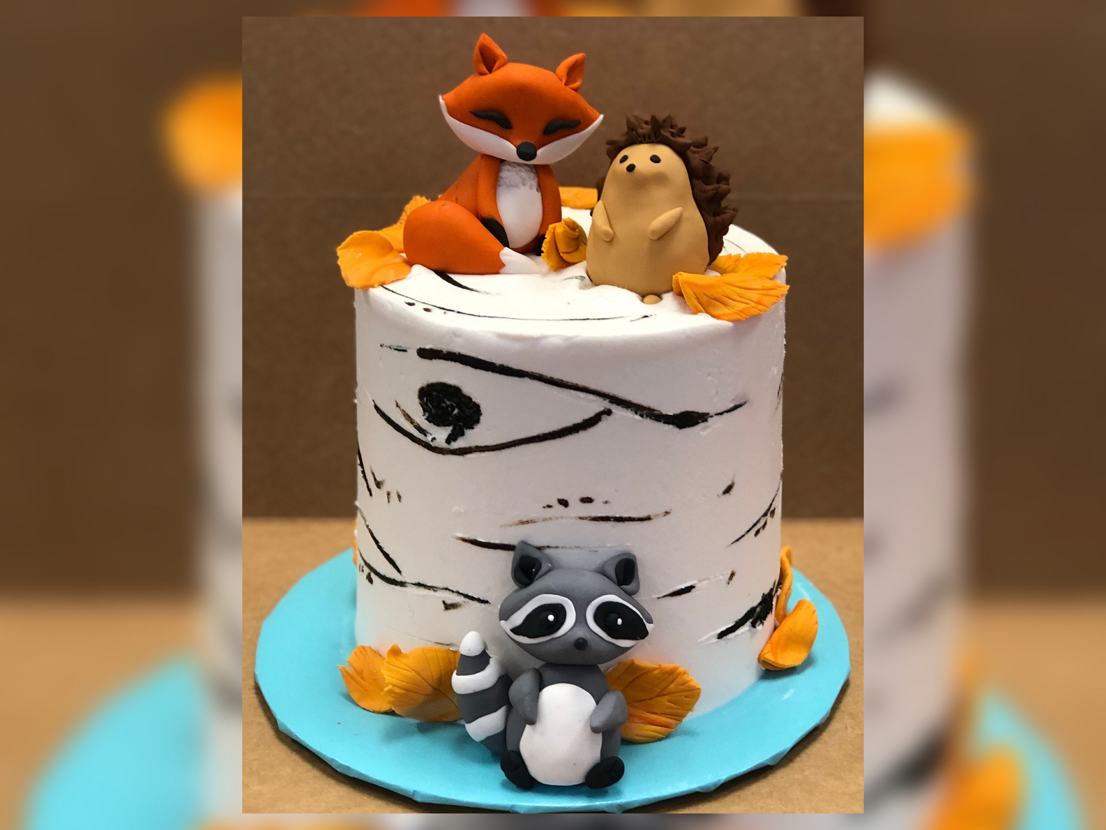 Woodlands Animals Figurines Cake