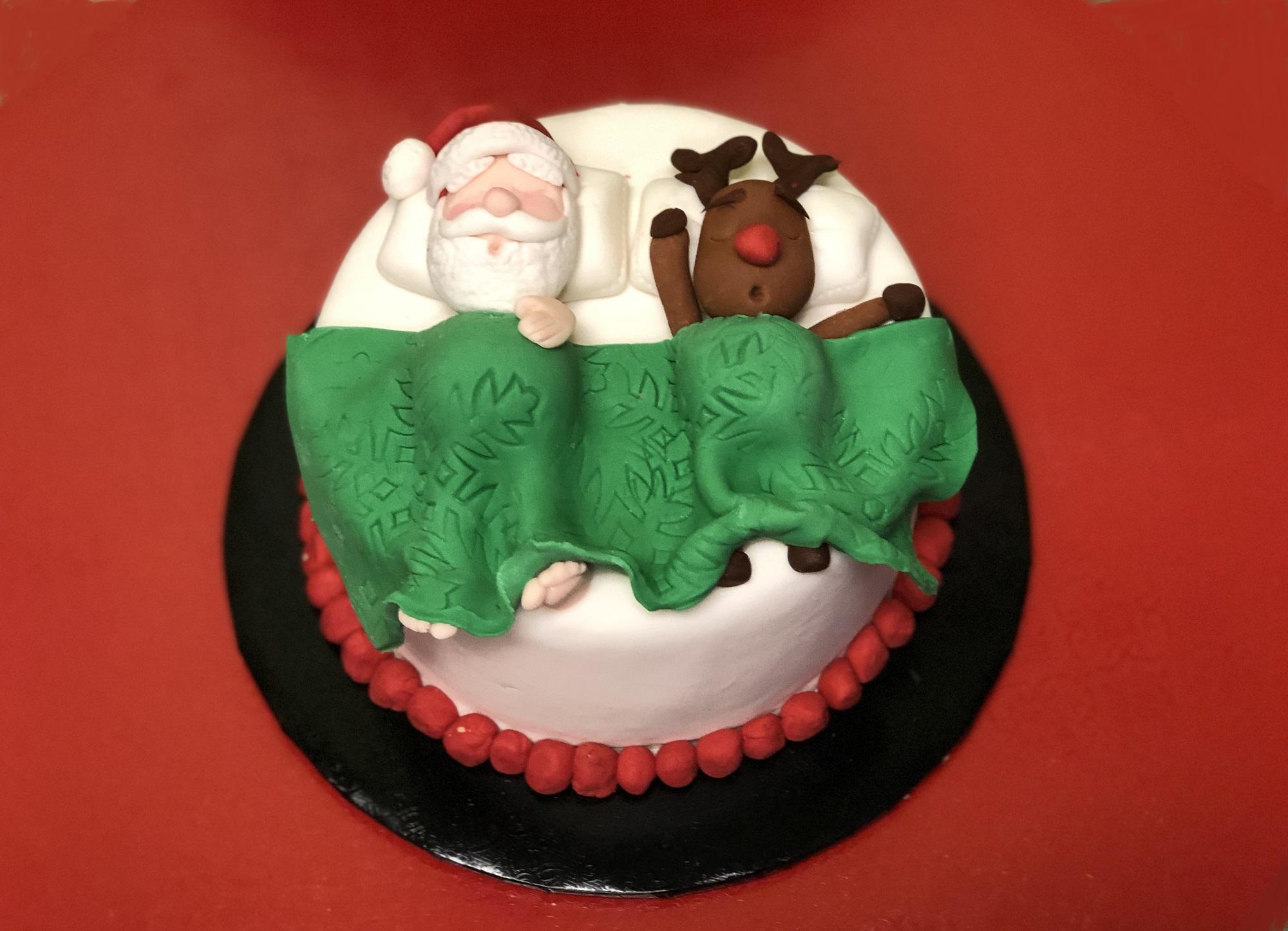 Enjoyable Resting Santa Cake Over The Top Cake Supplies San Antonio Central Birthday Cards Printable Trancafe Filternl