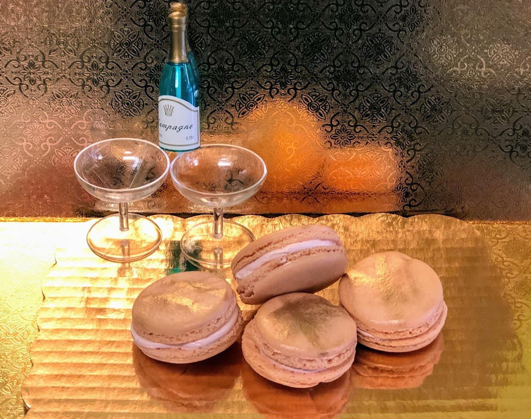 Strawberry Champagne Macarons