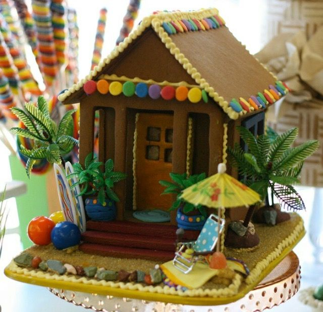 Gingerbread Beach House The Woodlands Over The Top Cake Supplies