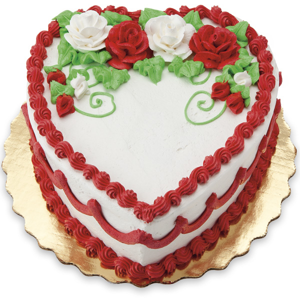 Hearts and Flowers cake