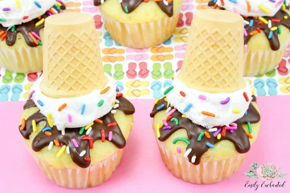 Spring Break Ice Cream theme -Cupcake Class