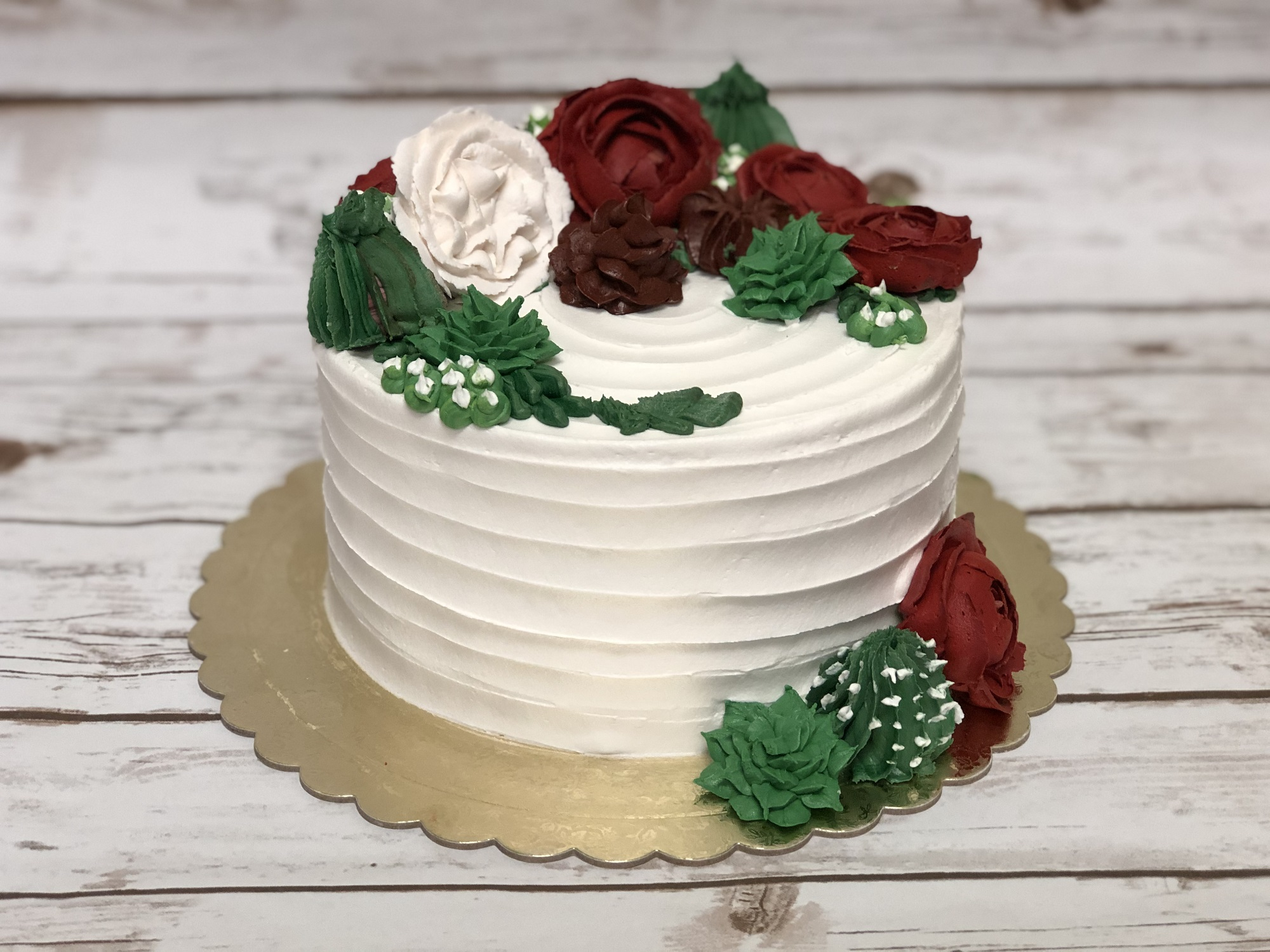Holiday Succulent Buttercream Cake Decorating Class