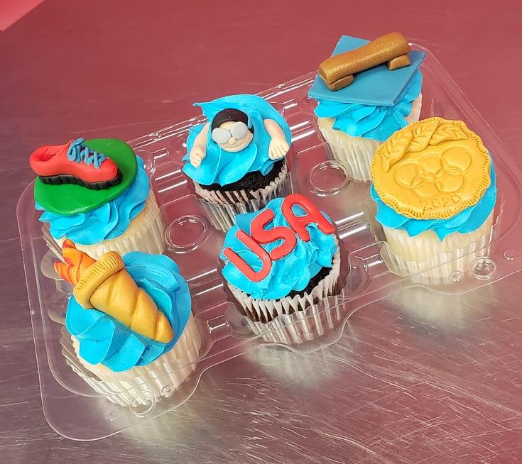 USA/Olympics Cupcakes